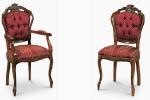 כיסאות יוקרה איכותיות VENEZIANA מושב קפיצים דגם 2-2.8 - 104-S במידות רוחב-48 עומק -53  גובה מושב-47 גובה כיסא-103 . כיסא עם ידיות דגם 2.4-3 - 104-C במידות אורך-58 עומק-58 גובה מושב-47 גובה כיסא-103. דוידה מוביל-איטליה. ניתן לקבל עם ניטים או סרט . ובבחירת, צבע וגוון עץ,בד ואו עור.        דיזיין .G.D - גלרי דענתיק . ברח' דוד המלך 1 הרצליה פיתוח.  www.gallerydeantique.com