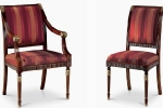 כיסאות יוקרה במיוחד  מושב קפיצים דגם  2.3-3.3 - NICOLE 123-S במידות רוחב-56 עומק -67  גובה מושב-53 גובה כיסא-103 . כיסא עם ידיות כורסאות מיטינגים דגם 2.7-3.8 - 123-C במידות אורך-64 עומק-75 גובה מושב-53 גובה כיסא-103. דוידה מוביל-איטליה. ניתן לקבל עם ניטים או סרט . ובבחירת צבע וגוון עץ,בד ואו עור.   דיזיין .G.D - גלרי דענתיק . ברח' דוד המלך 1 הרצליה פיתוח.  www.gallerydeantique.com
