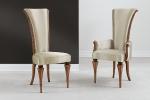כיסאות יוקרה מושב קפיצים דגם 3.6-4.8 - 150_alice -S במידות רוחב-54 עומק -70  גובה מושב-51 גובה כיסא-116 . כיסא עם ידיות דגם 4.9-6.8 - 105-C במידות אורך-67 עומק-70 גובה מושב-51 גובה כיסא-116. דוידה מוביל-איטליה. ניתן לקבל עם ניטים או סרט . ובבחירת  צבע וגוון עץ,בד ואו עור. דיזיין .G.D - גלרי דענתיק . ברח' דוד המלך 1 הרצליה פיתוח. www.gallerydeantique.com