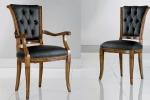 כיסאות יוקרה בשילוב בוטונים מושב קפיצים דגם LUNA- 1011-S - 2.5-3.3 עם חריטות עדינות  במידות רוחב-50 עומק -59  גובה מושב-52 גובה כיסא-99 . כיסא עם ידיות דגם 2.7-4.1 -1011-C במידות אורך-59 עומק-59 גובה מושב-52 גובה כיסא-99. דוידה מוביל-איטליה. ניתן לבחירת צבע וגוון עץ,בד ואו עור.                       דיזיין .G.D - גלרי דענתיק . ברח' דוד המלך 1 הרצליה פיתוח. www.gallerydeantique.com