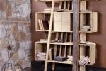 ספריה מעץ עתיק art-7000-LIBRERIA