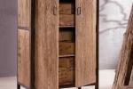 art-7008 ארון מעץ עתיק בשילוב מתכת