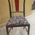 4 - כיסא דולפי כפרי וינטז' מרופד במושב לפי בחירה  מחיר רגיל 2300 ש''ח מחיר מבצע למלאי בלבד - 1300 ש''ח