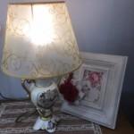 מנורה ומסגרת לתמונה